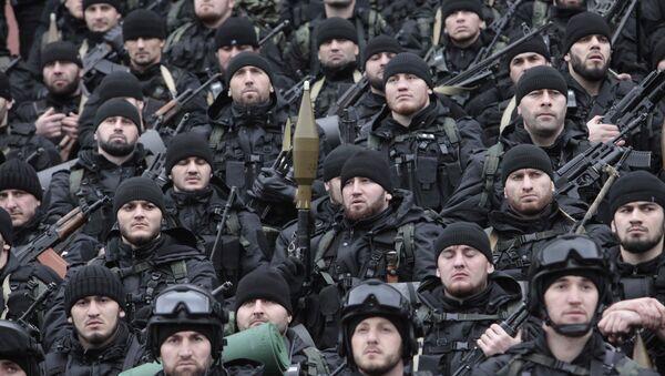 Soldados de las Fuerzas especiales chechenas (archivo) - Sputnik Mundo
