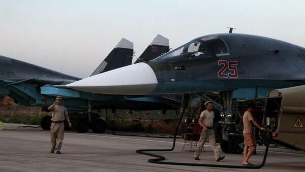 Avión ruso Su-34 en Siria - Sputnik Mundo