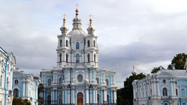 Sede de la conferencia, Facultad de Relaciones Internacionales de la Universidad Estatal de San Petersburgo, ex-monasterio Smolny - Sputnik Mundo