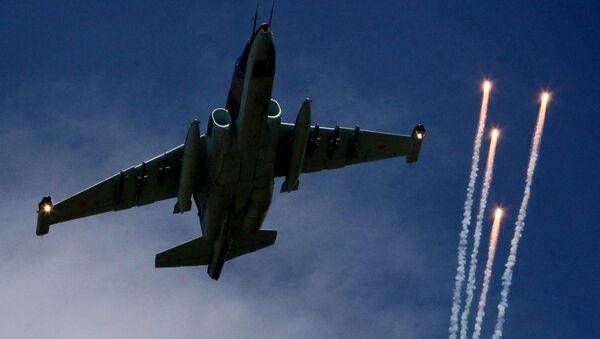 Caza Su-25 de la Fuerza Aérea rusa - Sputnik Mundo