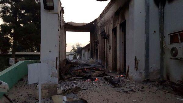 Hospital de Médicos sin Fronteras en Kunduz tras sufrir un bombardeo (Archivo) - Sputnik Mundo