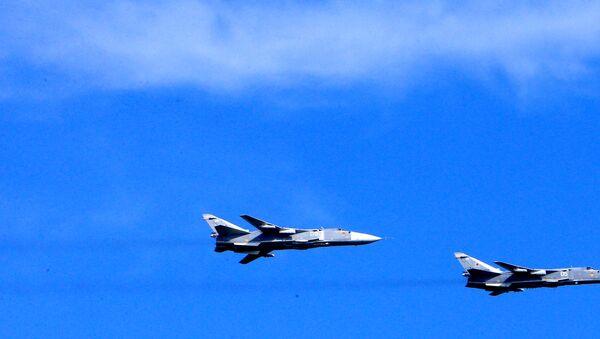 Bombarderos tácticos rusos Su-24 - Sputnik Mundo