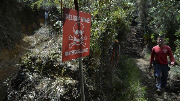 Campo minado en Colombia - Sputnik Mundo