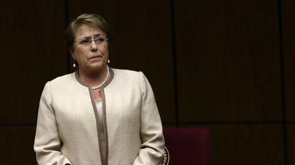 Michelle Bachelet, presidente de Chile - Sputnik Mundo
