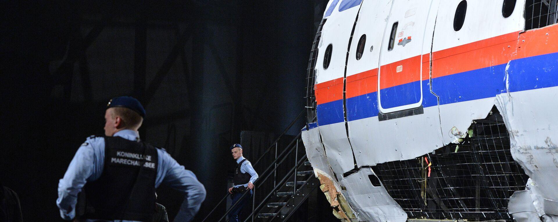 Parte del avión que realizaba el vuelo MH17 de Malaysia Airlines - Sputnik Mundo, 1920, 08.02.2021