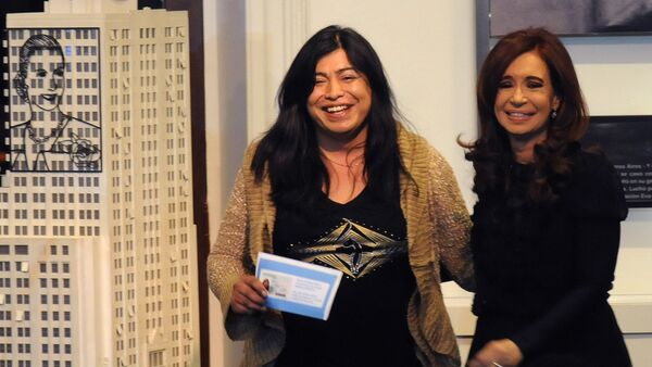 Diana Sacayán con Cristina Fernández de Kirchner - Sputnik Mundo
