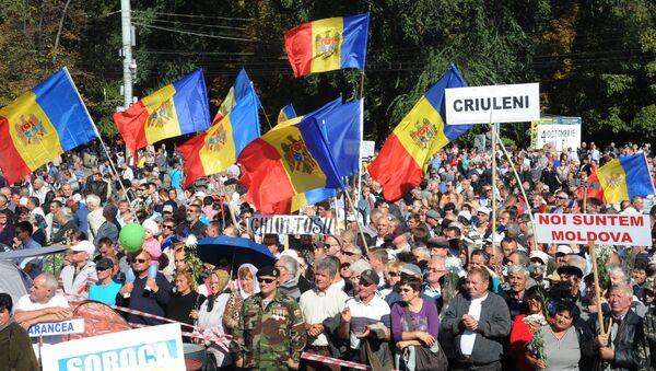 Акции протеста в Кишинёве - Sputnik Mundo