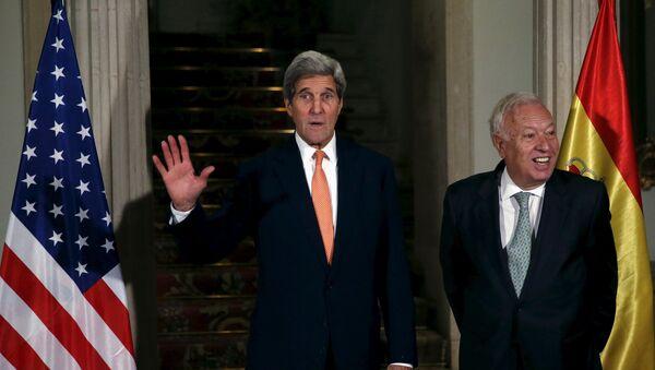 Secretario de Estado de EEUU, John Kerry, y ministro de Asuntos Exteriores español, José Manuel García-Margallo - Sputnik Mundo