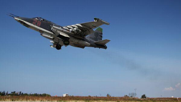 Caza rusa Su-25 en Siria - Sputnik Mundo