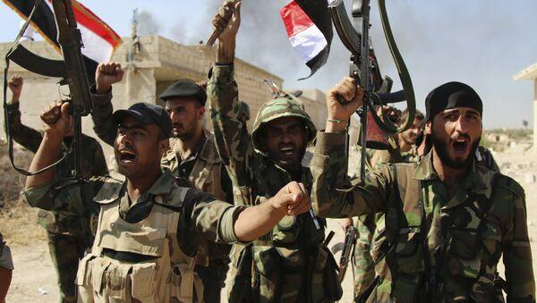 Soldados del Ejército de Siria - Sputnik Mundo