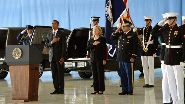 Funeral de las víctimas estadounidenses del ataque en Bengasi - Sputnik Mundo