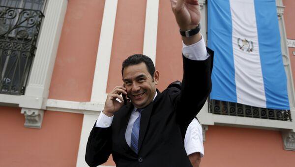 Jimmy Morales, candidato del Frente de Convergencia Nacional - Sputnik Mundo