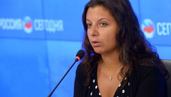 Margarita Simonyan, redactora jefa de la agencia Rossiya Segodnya y de RT - Sputnik Mundo
