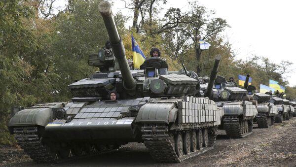 Tanques del Ejército de Ucrania (archivo) - Sputnik Mundo