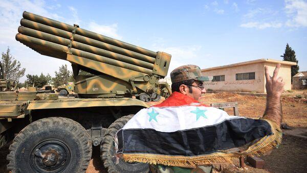 El Ejército gubernamental de Siria cerca de la ciudad de Qatana en la provincia de Damasco - Sputnik Mundo