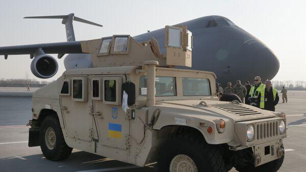 Vehículo estadounidense Humvee suministrado por EEUU a Ucrania - Sputnik Mundo