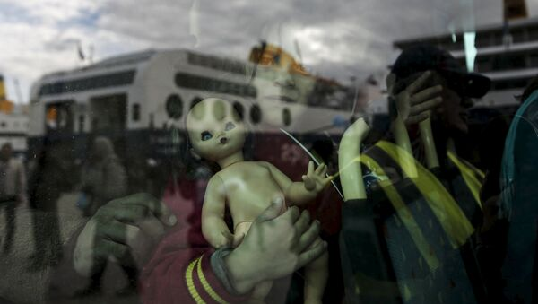 Niña refugiada (imagen referencial) - Sputnik Mundo