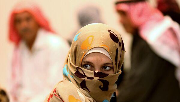 Refugiados sirios en el Campo de Refugiados Zaatari en Jordania (Archivo) - Sputnik Mundo