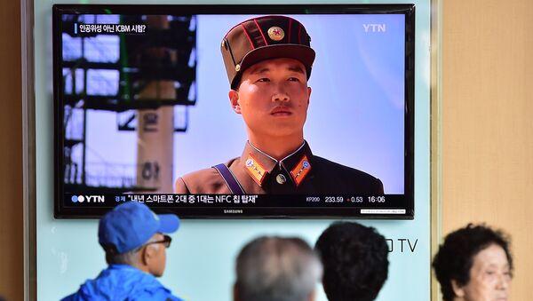 Noticias surcoreanas sobre actividad militar en Corea del Norte (archivo) - Sputnik Mundo