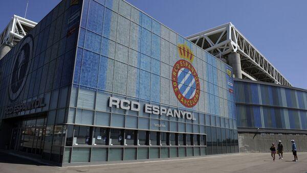 La entrada del estadio Cornellà-El Prat de Real Club Deportivo Español - Sputnik Mundo