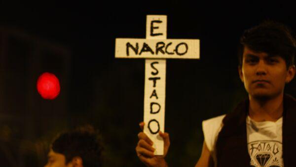 Protesta en Ayotzinapa, Guerrero - Sputnik Mundo