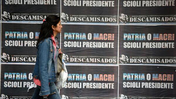 Carteles electorales en Buenos Aires - Sputnik Mundo