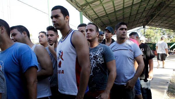 Migrantes cubanos en la frontera entre Costa Rica y Nicaragua - Sputnik Mundo