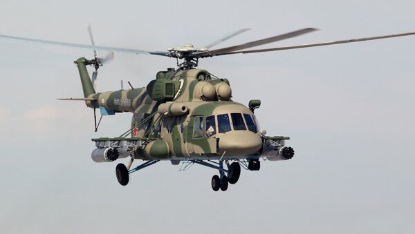 Helicóptero Mi-8AMTSh-V (archivo) - Sputnik Mundo