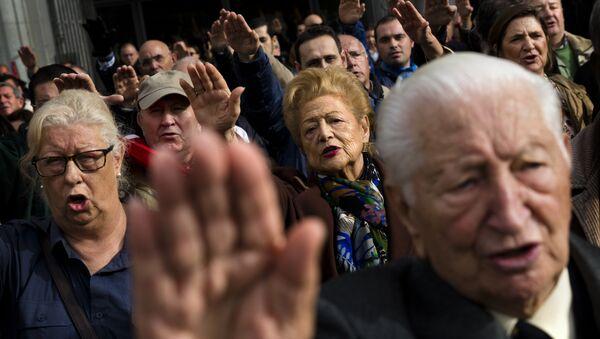 Los seguidores del fraquismo en Madrid - Sputnik Mundo