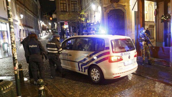 Operación policial en el centro de Bruselas - Sputnik Mundo