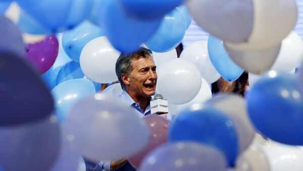 Mauricio Macri, candidato opositor a la Presidencia argentina - Sputnik Mundo