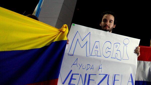 Ciudadano venezolano en Buenos Aires - Sputnik Mundo