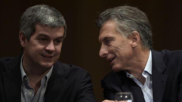 Jefe de gabinete del Gobierno, Marcos Peña, y presidente de Argentina, Mauricio Macri - Sputnik Mundo