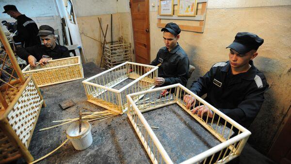 Reclusos fabrican muebles en una cárcel de Ekaterimburgo - Sputnik Mundo