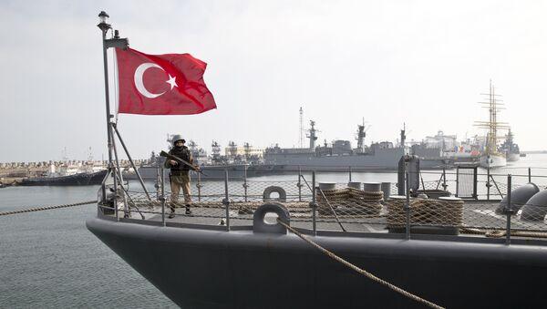 Un buque turco (Archivo) - Sputnik Mundo
