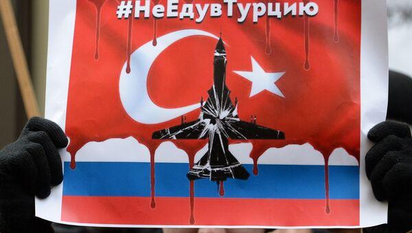 Protesta en Moscú contra el derribo del avión ruso - Sputnik Mundo
