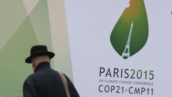 Logo de la Cumbre del Cambio Climático de París - Sputnik Mundo