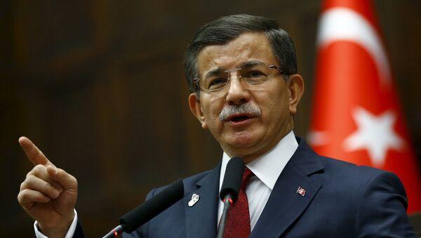 Ahmet Davutoglu, el primer ministro de Turquía - Sputnik Mundo