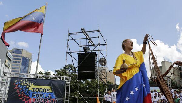 Mitin de la oposición en Caracas, Venezuela - Sputnik Mundo