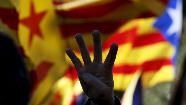 Banderas independistas de Cataluña - Sputnik Mundo
