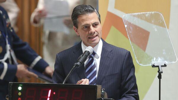 El presidente de México Enrique Peña Nieto - Sputnik Mundo