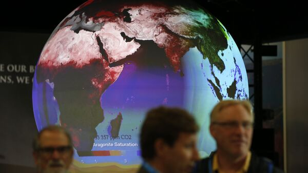 Stand en la Cumbre sobre Cambio Climático - Sputnik Mundo