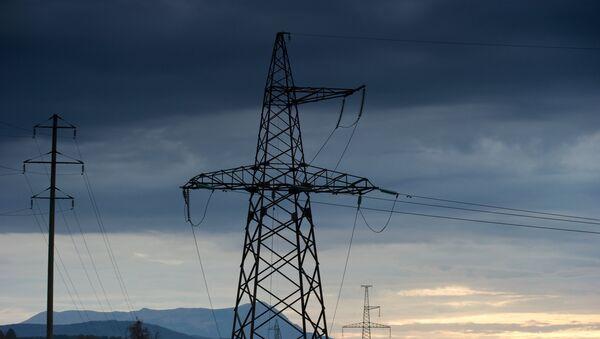 Líneas de la transmisión eléctrica de Crimea - Sputnik Mundo