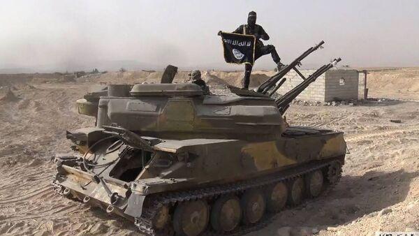 El integrante de Daesh en Siria - Sputnik Mundo