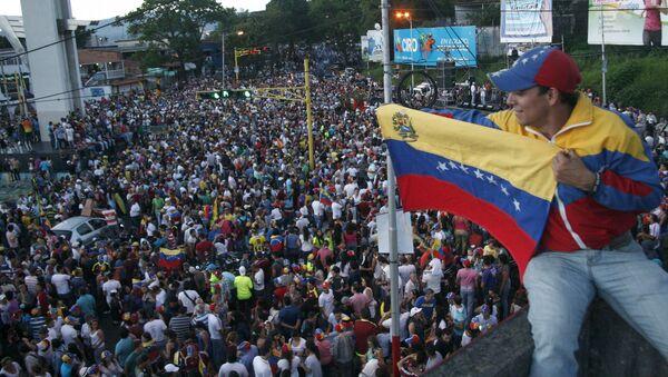 Partidarios de la oposición en San Cristóbal, Venezuela (archivo) - Sputnik Mundo