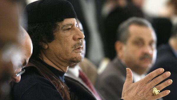 Exlíder de Libia, Muammar Gadafi - Sputnik Mundo