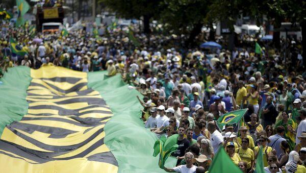 Protestas antigubernamentales en Brasil - Sputnik Mundo