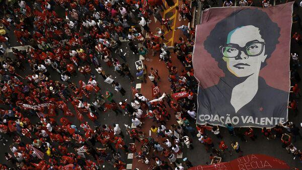 Protesta contra el impeachment contra la presidenta Dilma Rousseff - Sputnik Mundo