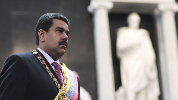 Nicolás Maduro, presidente de Venezuela, durante la conmemoración del aniversario de la muerte del libertador Simón Bolívar (archivo) - Sputnik Mundo
