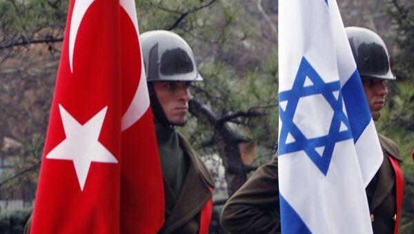 Las banderas de Israel y Turquía - Sputnik Mundo